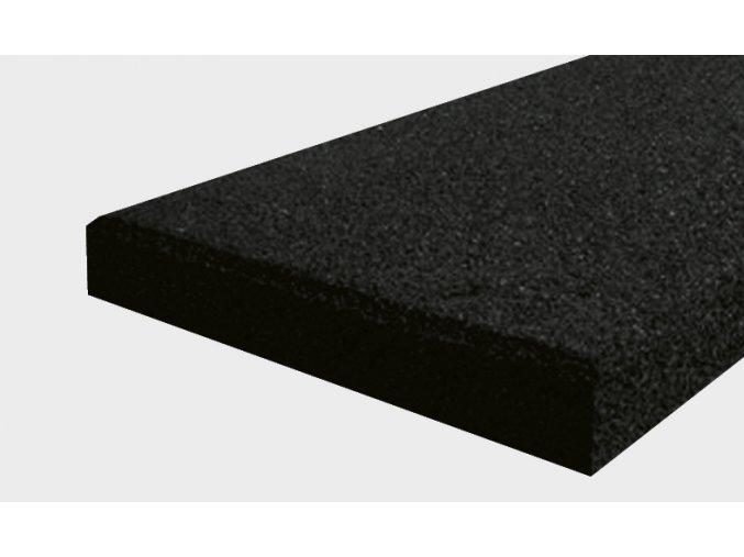 Pryžový obrubník typu A - černá