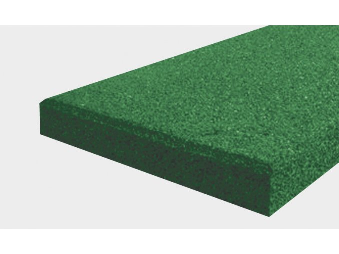 Pryžový obrubník typu A - zelená