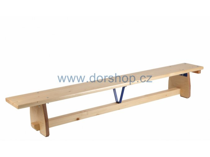 Švédská lavička s kladinkou DOR-SPORT 3 m s hranou z tvrdého dřeva