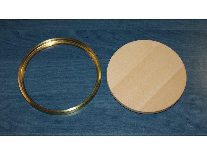 Krycí víčko DOR-SPORT - příruba ocelová vnitřní pro dřevěnou podlahu