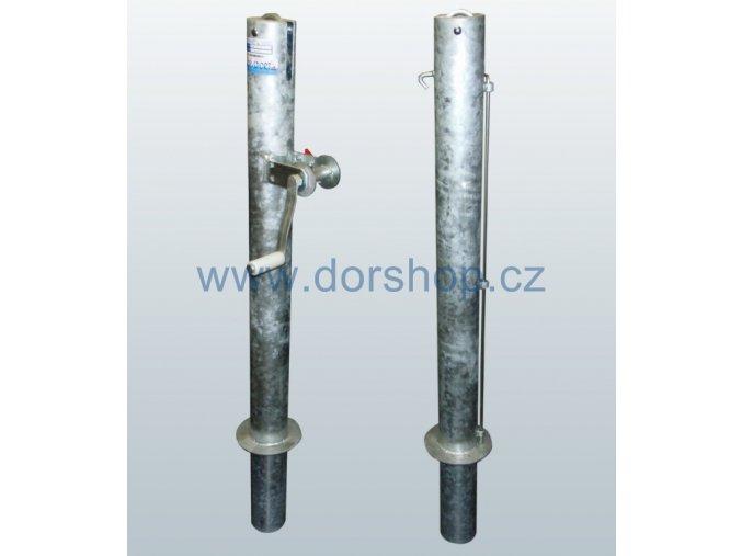 Tenisové sloupky DOR-SPORT - venkovní, 102 mm + pouzdra