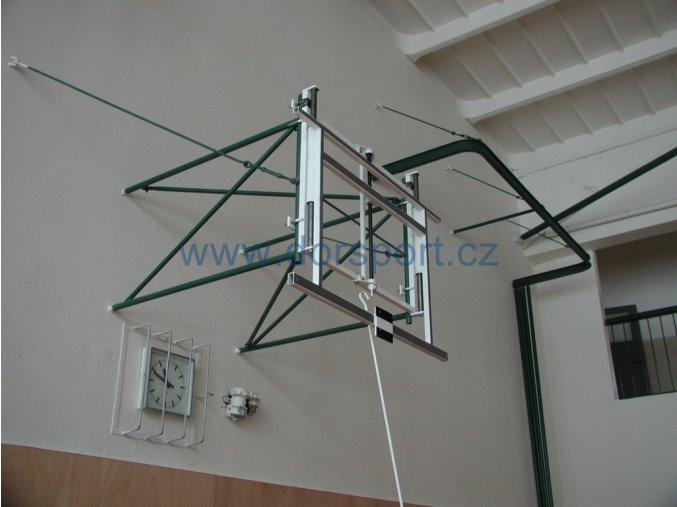 Mechanismus pro plynulou regulaci výšky basketbalové desky DOR-SPORT pro desky 1800x1050 mm