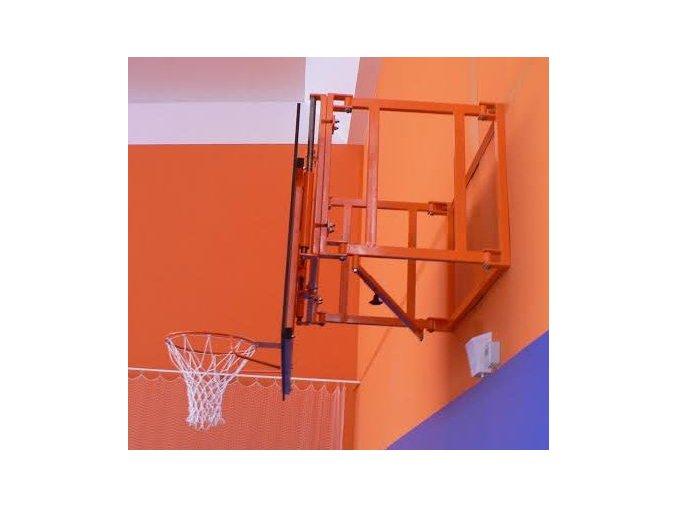 Konstrukce pro cvičný basketbal DOR-SPORT pro desku 1800 x 1050 (1200) mm, otočná, vysazení 300-950 mm