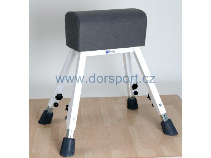 Gymnastická koza DOR-SPORT, koženka, ocelová stavitelná konstrukce