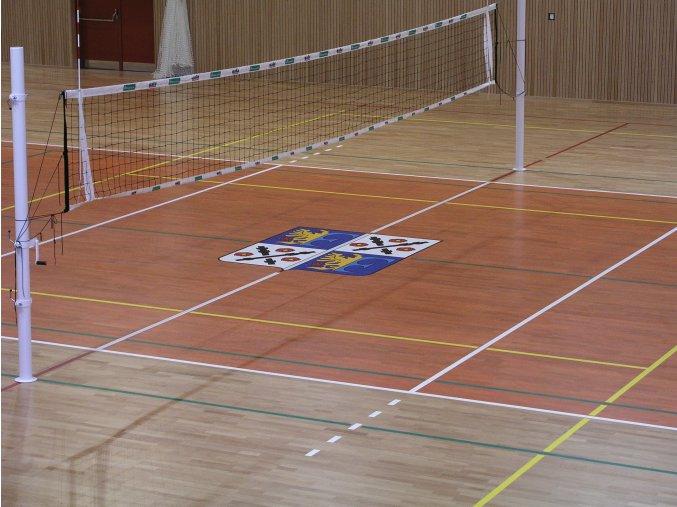 Volejbalové sloupky školní DOR-SPORT do pouzder - vnitřní, 102 mm