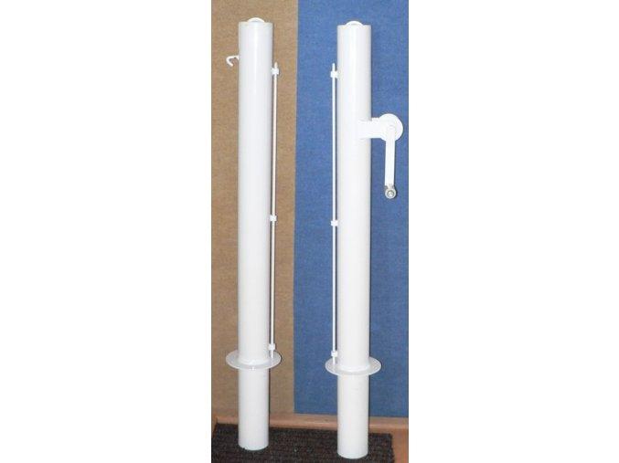 Tenisové sloupky DOR-SPORT - vnitřní, bílé, 102 mm