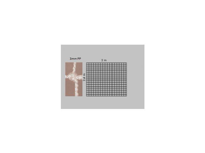 Záclonka na českou házenou  PP 3 mm - bílá