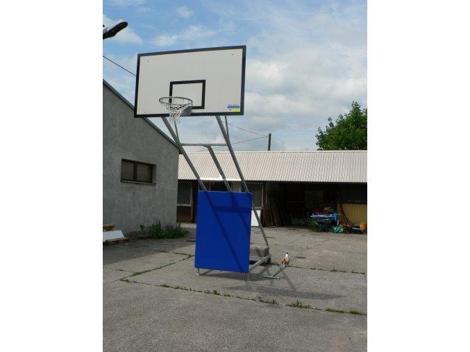 Basketbalová konstrukce DOR-SPORT, mobilní, pevná, deska 1800x1050 mm
