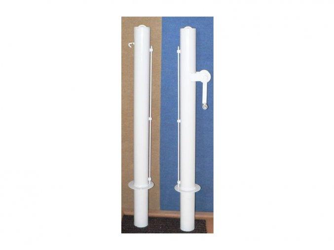 Tenisové sloupky DOR-SPORT vnitřní, bílé, 102 mm + pouzdra