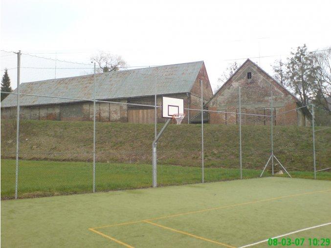 Streetball konstrukce DOR-SPORT, do betonového základu, vys. 1450 mm