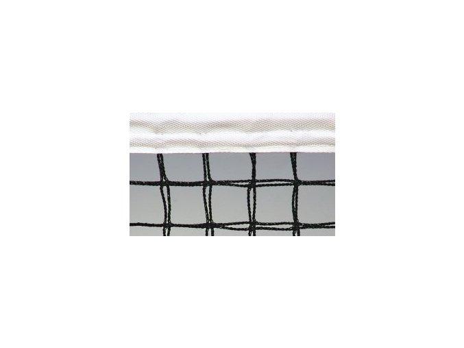 Tenisová síť SPORT+ 3 mm černá zdvojená
