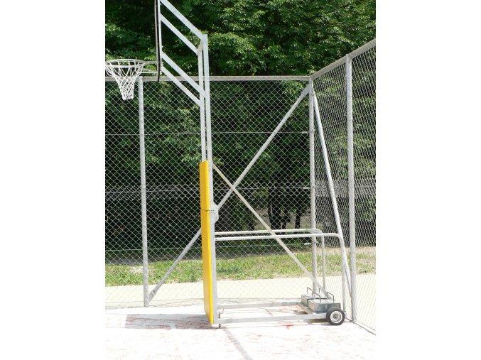 Basketbalová konstrukce DOR-SPORT, mobilní, sklopná, deska 1200x900 mm venkovní