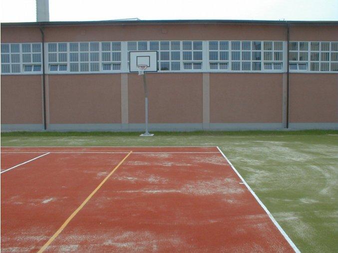 Streetball konstrukce DOR-SPORT, ocelová plotna, vys. 1450 mm