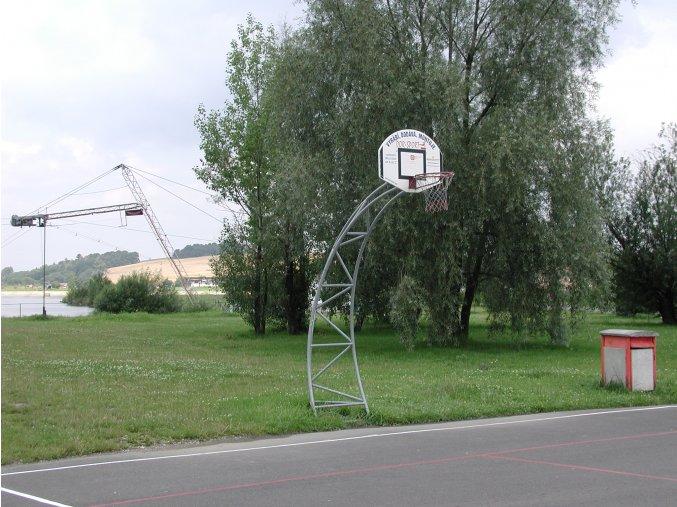 Streetball konstrukce DOR-SPORT, oblouková, do bet. základu