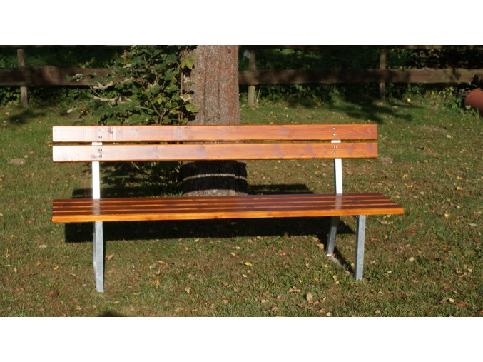 Parková lavice DOR-SPORT s opěradlem 2 m