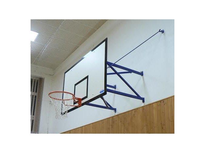 Konstrukce pro basketbal DOR-SPORT, pevná, vysazení 300-1650 mm