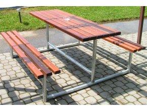 Zahradní set DOR-SPORT - 2 lavice bez opěrky a stůl