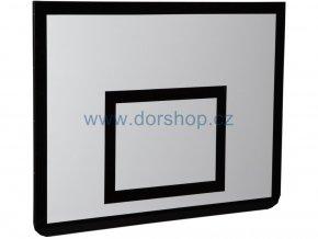 Basketbalová deska DOR-SPORT 1200x900 mm, venkovní, ocelový rámek, překližka