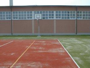 Streetball konstrukce DOR-SPORT, ocelová plotna, vys. 1200 mm
