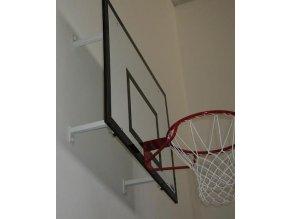 Konstrukce pro cvičný basketbal DOR-SPORT pro desku 1800 x 1050 (1200) mm, pevná, vysazení 300-950 mm