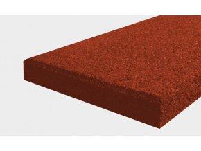 Pryžový obrubník typu A - červená