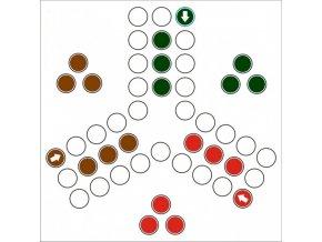 Hrací položka pro 9 figurek pro člověče nezlob se zahradní