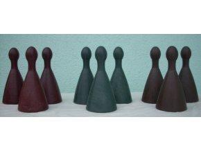 Figurky pro člověče nezlob se zahradní - 9 ks