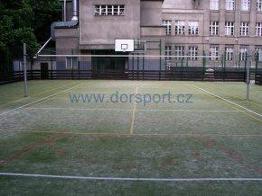 Volejbalové sloupky školní DOR-SPORT do pouzder - venkovní, 102 mm