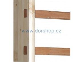 Krycí lišta k žebřině DOR-SPORT 40x20 mm, délka 3 m