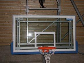 Basketbalová deska DOR-SPORT LIGA 1800x1050 mm, vnitřní, sklo