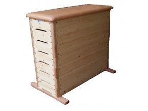 Švédská bedna DOR-SPORT STANDARD, rovná, 7-dílů, překližka, hrany z tvrdého dřeva