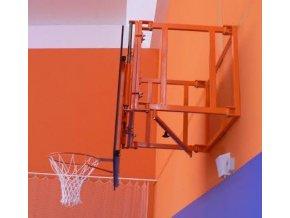 Konstrukce pro cvičný basketbal DOR-SPORT pro desku 1200 x 900 mm, otočná, vysazení 300-950 mm