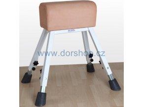 Gymnastická koza DOR-SPORT, kůže, ocelová stavitelná konstrukce
