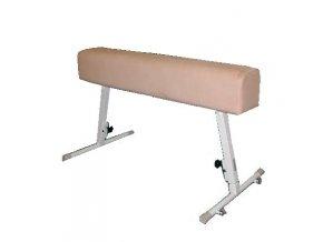 Gymnastický kůň DOR-SPORT bez madel, kůže, ocelová stavitelná konstrukce
