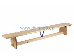 Švédská lavička s kladinkou DOR-SPORT 2,8 m s hranou z tvrdého dřeva