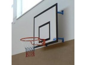 Konstrukce pro cvičný basketbal DOR-SPORT pro desku 1200 x 900 mm, pevná, vysazení 300-950 mm