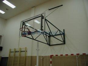 Konstrukce pro basketbal DOR-SPORT, otočná s táhly, 2510-4250 mm
