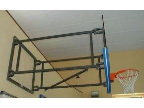 Konstrukce pro basketbal DOR-SPORT, otočná bez táhel, vysazení 1250-2500 mm