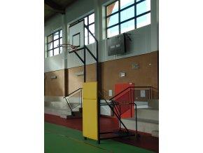 Basketbalová konstrukce DOR-SPORT, mobilní, sklopná, deska 1200x900 mm včetně regulace výšky koše