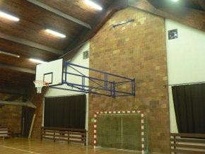 Konstrukce pro basketbal, otočná, zesílená táhla, vysazení 4260-6800 mm