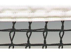 Tenisová síť STANDARD zdvojená 3mm černá