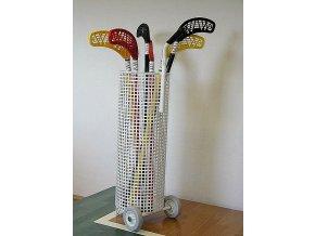 Vozík DOR-SPORT pro florbalové hokejky