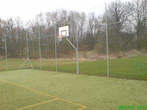 Streetball konstrukce DOR-SPORT, do pouzder + pouzdra, vys. 1450 mm
