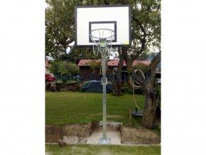 Streetball konstrukce DOR-SPORT, výškově stavitelný, ocelová plotna, vys. 1450 mm