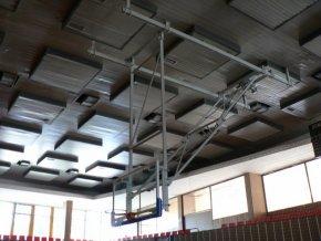 Konstrukce pro basketbal zvedaná pod strop DOR-SPORT do celkové výšky 7 m