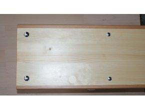 Náhradní deska ke švédské lavičce, hrana tvrdé dřevo, cena za 1 bm