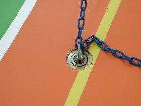 Záklopka ke hrazdě DOR-SPORT pro povlakové a lité podlahy