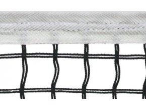 Tenisová síť SUPER, černá, 4 mm + středová páska