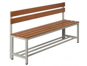 Šatní lavice délka 150 cm s roštem a opěradlem