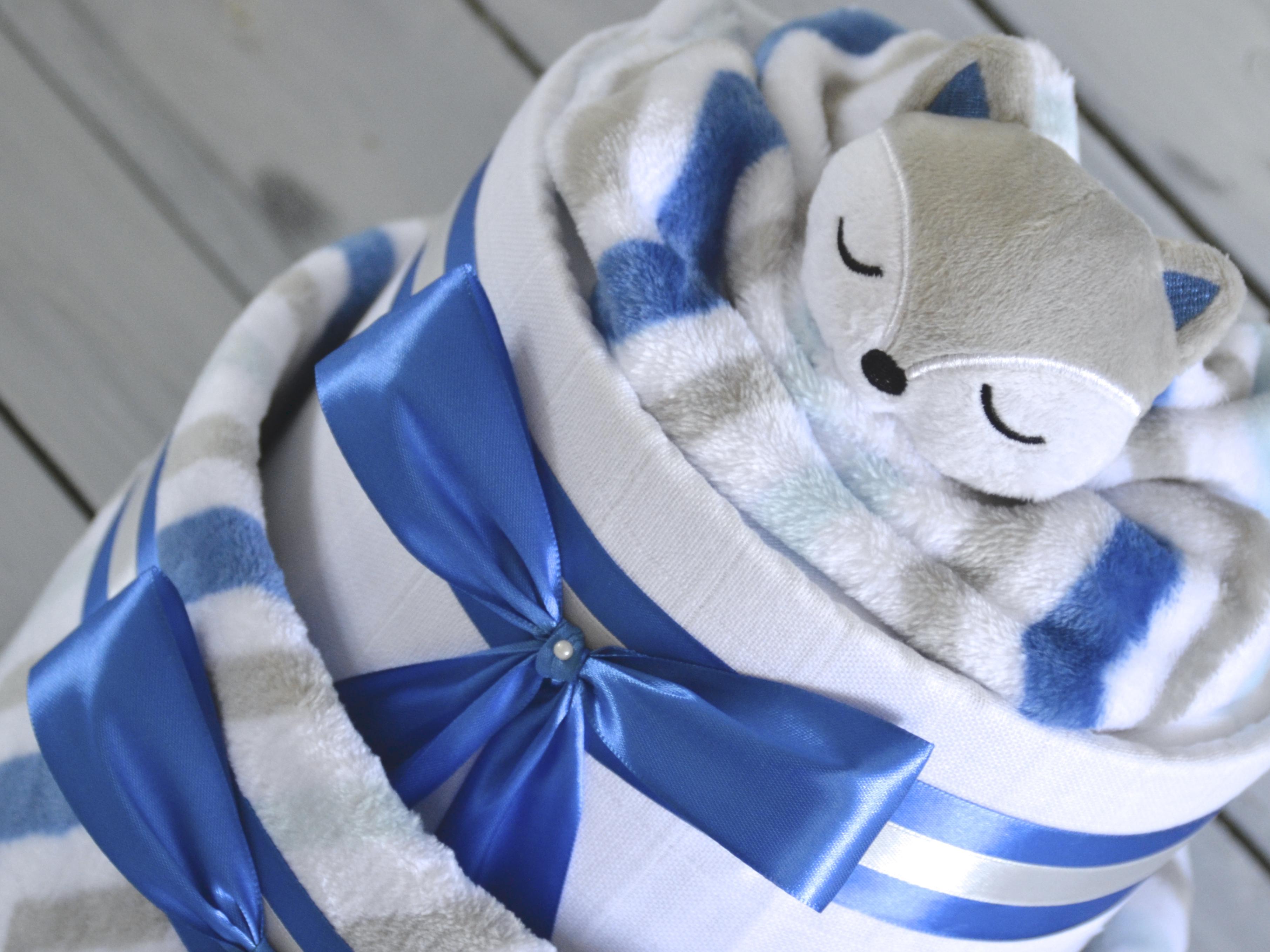 Nové plenkové dorty pro chlapečky ze setu deky a usínáčka lišky